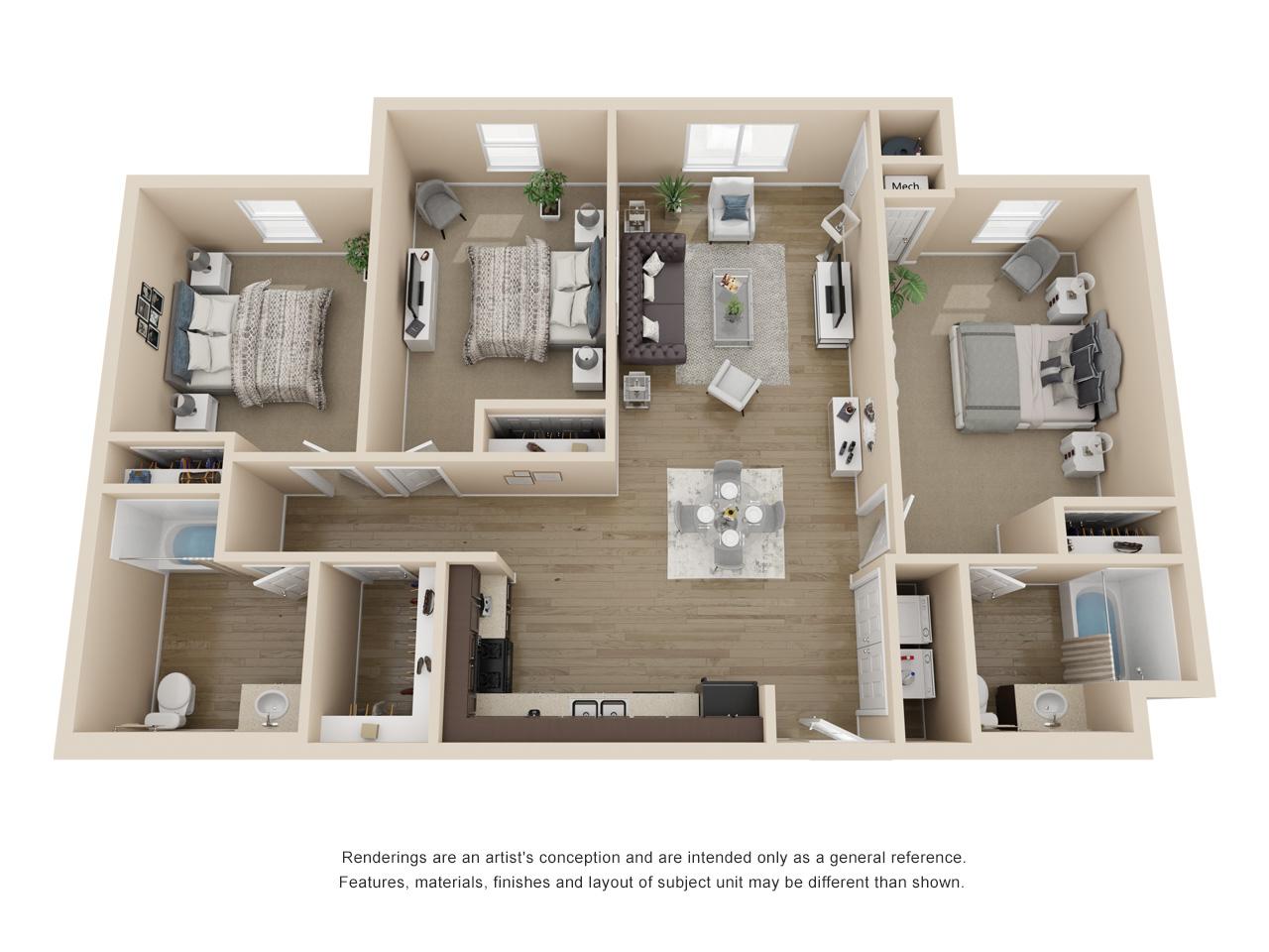 Corridor - 3 Bedroom