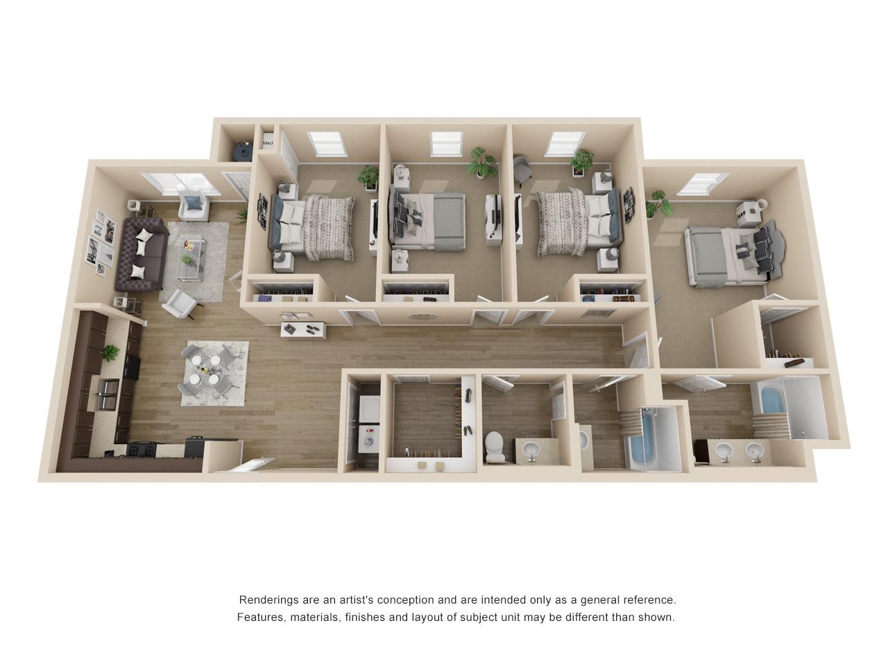 Corridor D1 - 4 Bedroom