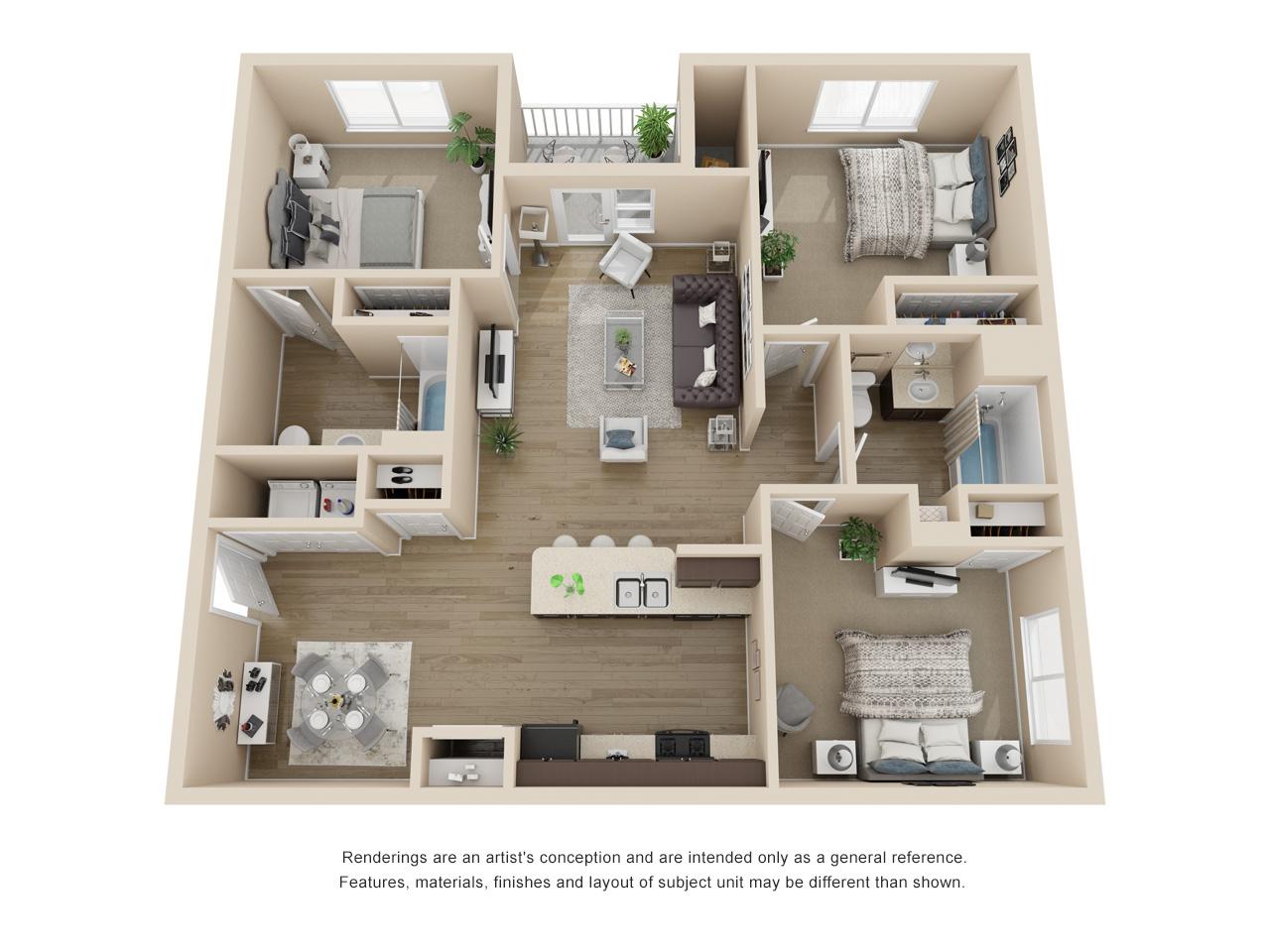 Garden C2 - 3 Bedroom